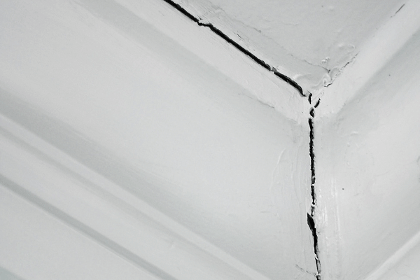 cracked ceiling